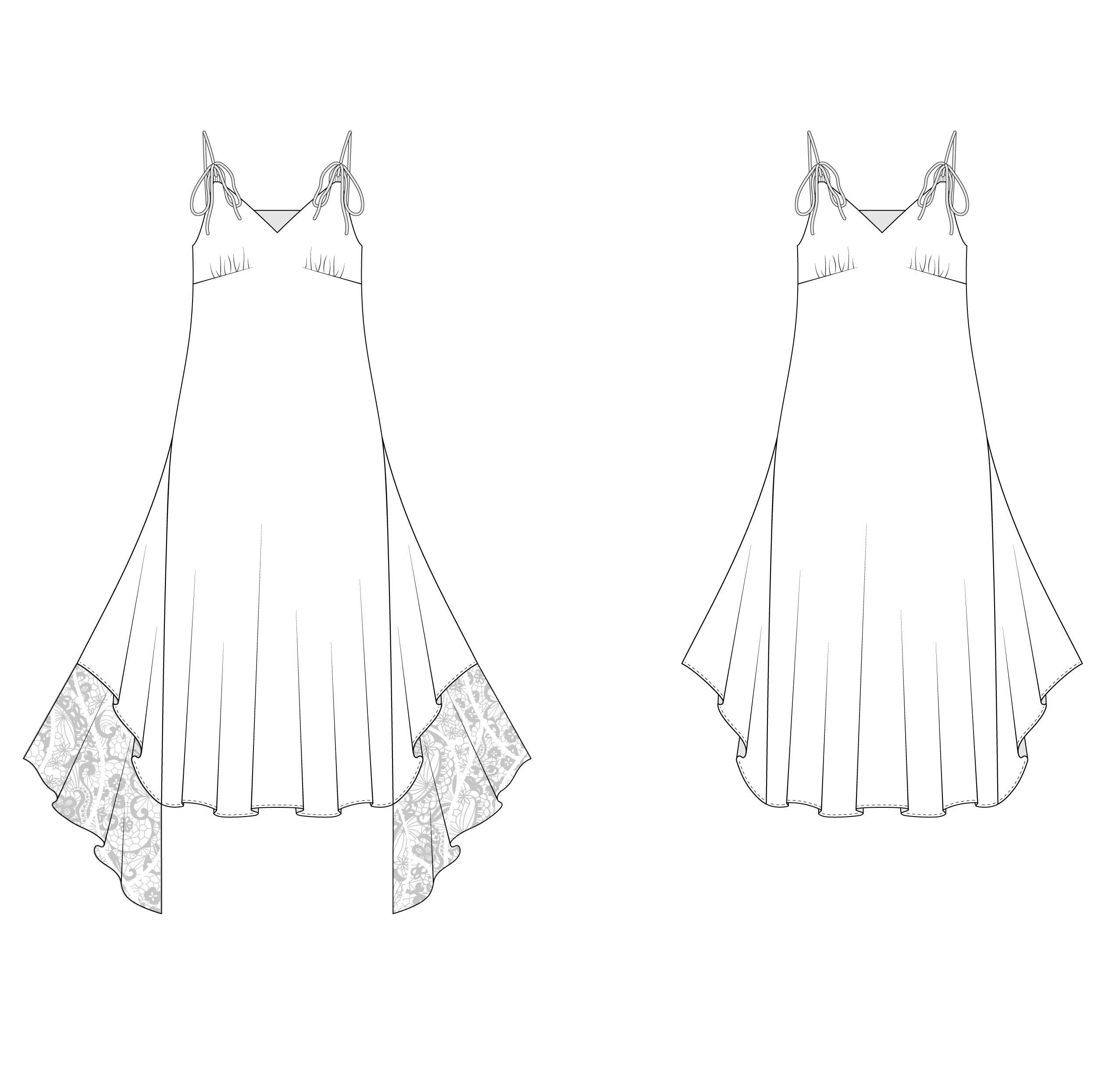 Выкройка на платье комбинацию